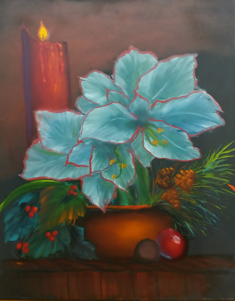 flower and Copper Pot